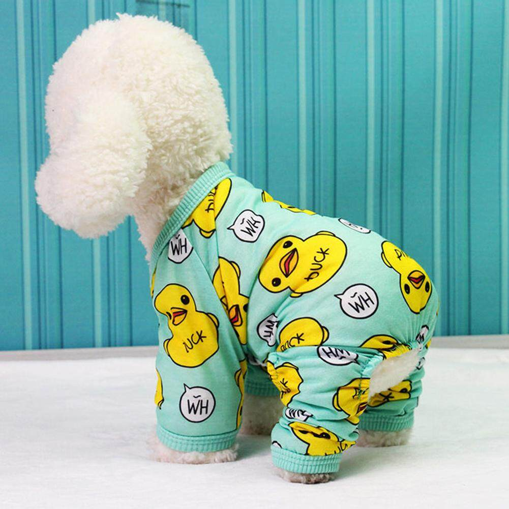 Magic Cube Cute Creative Duck Printing Pet Velvet Pajamas Coat Warm Nightwear Clothes For Dogs Cats By Magic Cube Express.