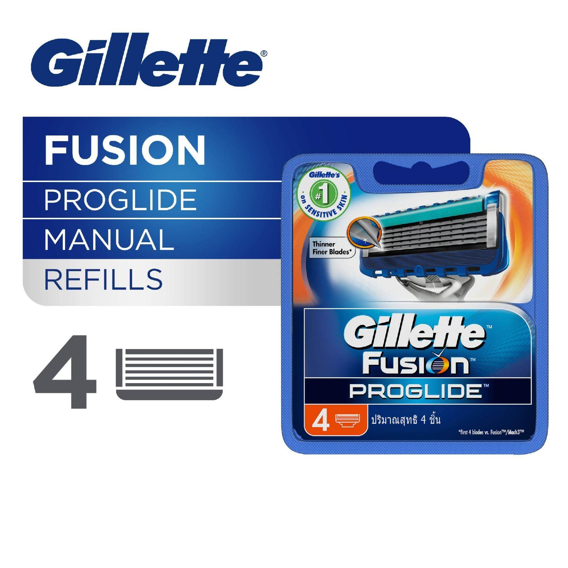 Gillette Men Fusion ProGlide Manual Men?s System Razor Blades 4 pcs
