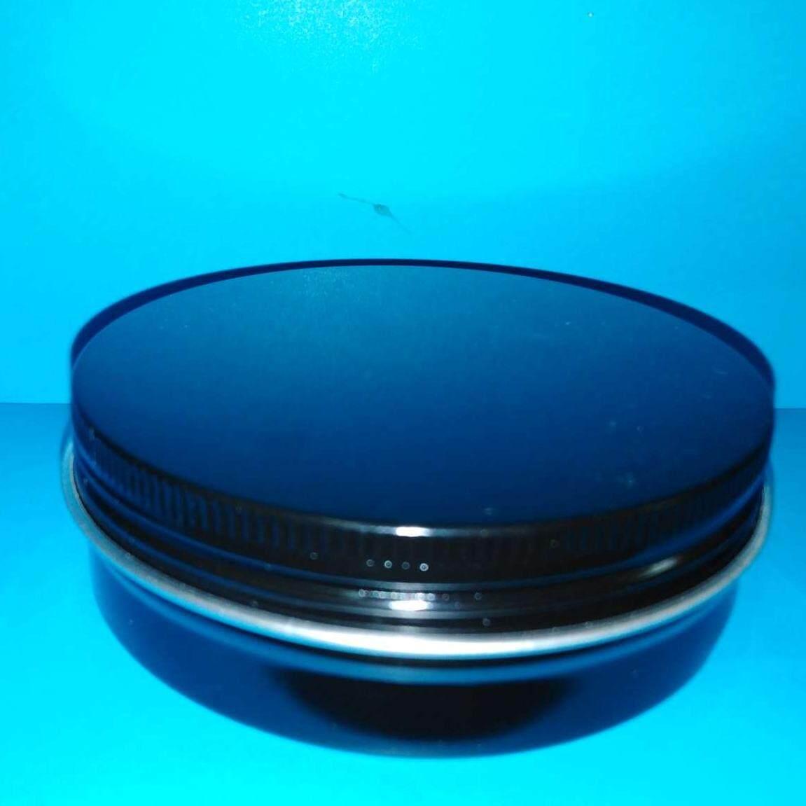 50pc of 100ml black matt finishing coated aluminium jar