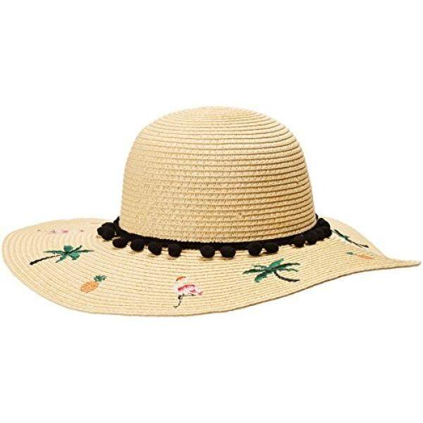 97b700fbc Betsey Johnson Womens Flamingo Floppy Hat, Natural, One Size - intl