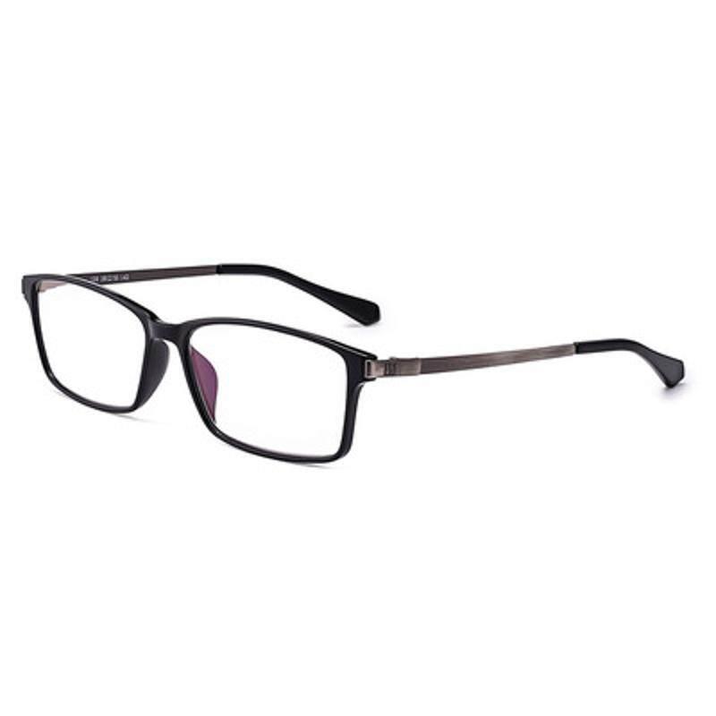 Shuaidi Anti Biru Anti-kelelahan Kacamata Baca Getah Paduan Penuh Bingkai Presbiopik Kaca Perak + 1.5-Internasional