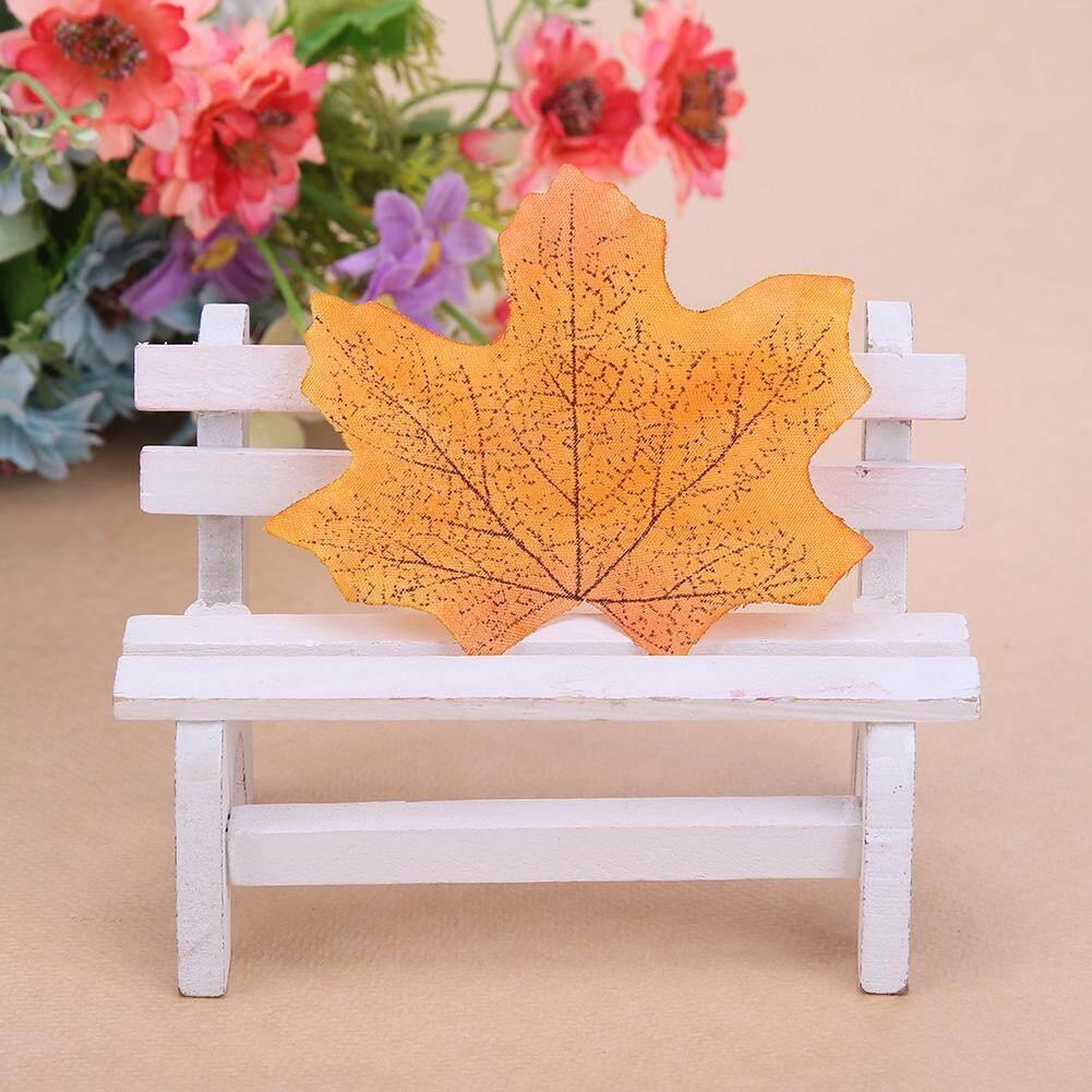 100 Pcs/bag Palsu Sutra Maple Daun Rumah Pesta Pernikahan Dekorasi- Internasional - 2