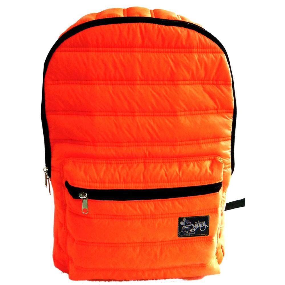 Disney Retro Mickey Puffed Waterproof Notebook Backpack (Orange)