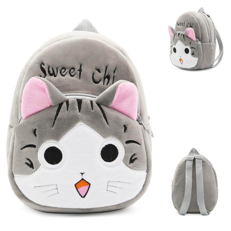 3D Plush Cartoon Bags Kids Animal Cat Backpack Children School Bags for 1-3  Years 34dcc88ded299