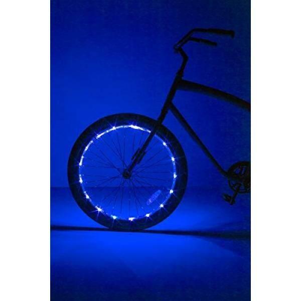 Almm Brightz, LTD. Roda Brightz LED Sepeda Lampu Aksesori (untuk 1 Roda), Biru-Internasional
