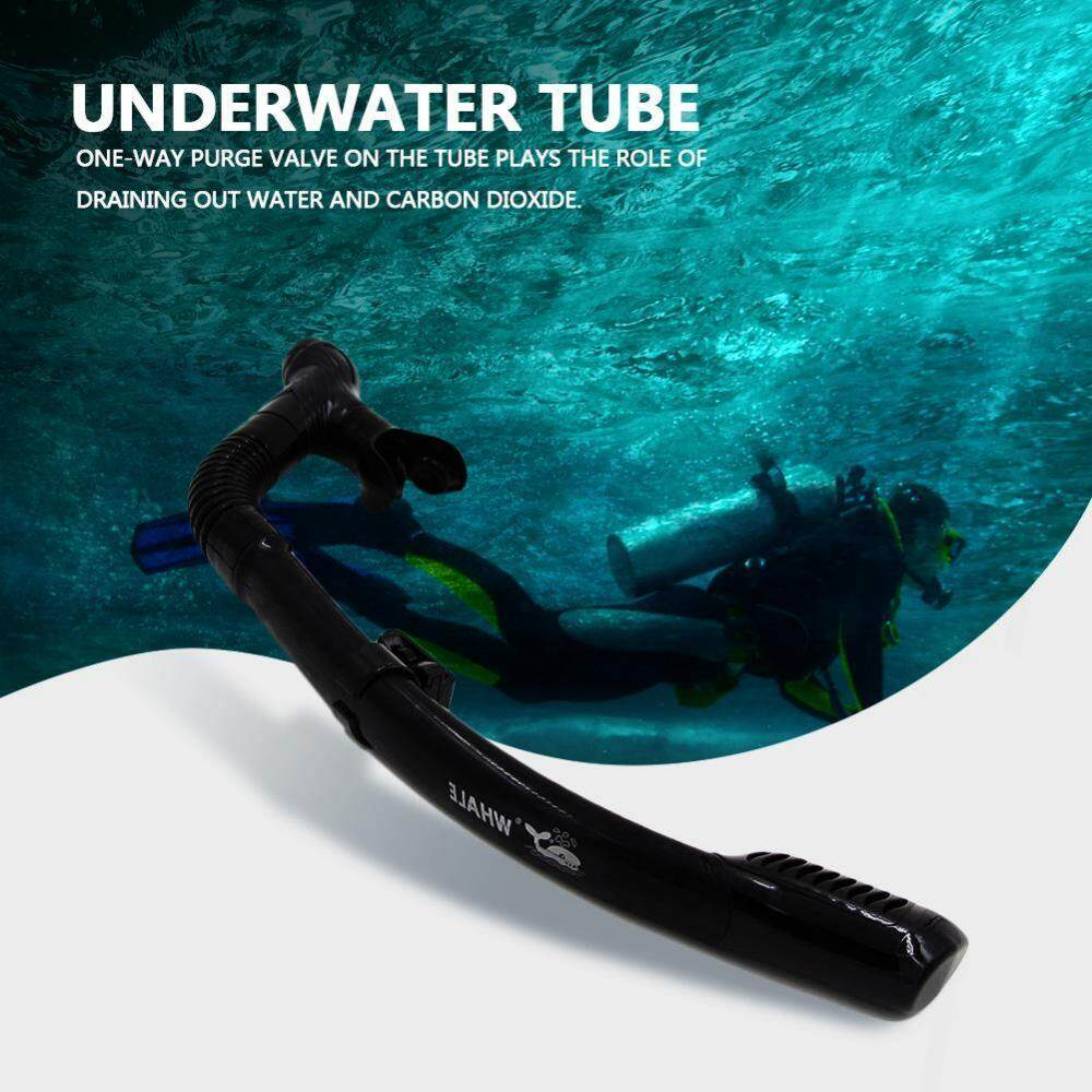 WHALE Underwater Water Sports Silicone Swimming Diving Snorkeling Dry Air Breathing Tube - intl