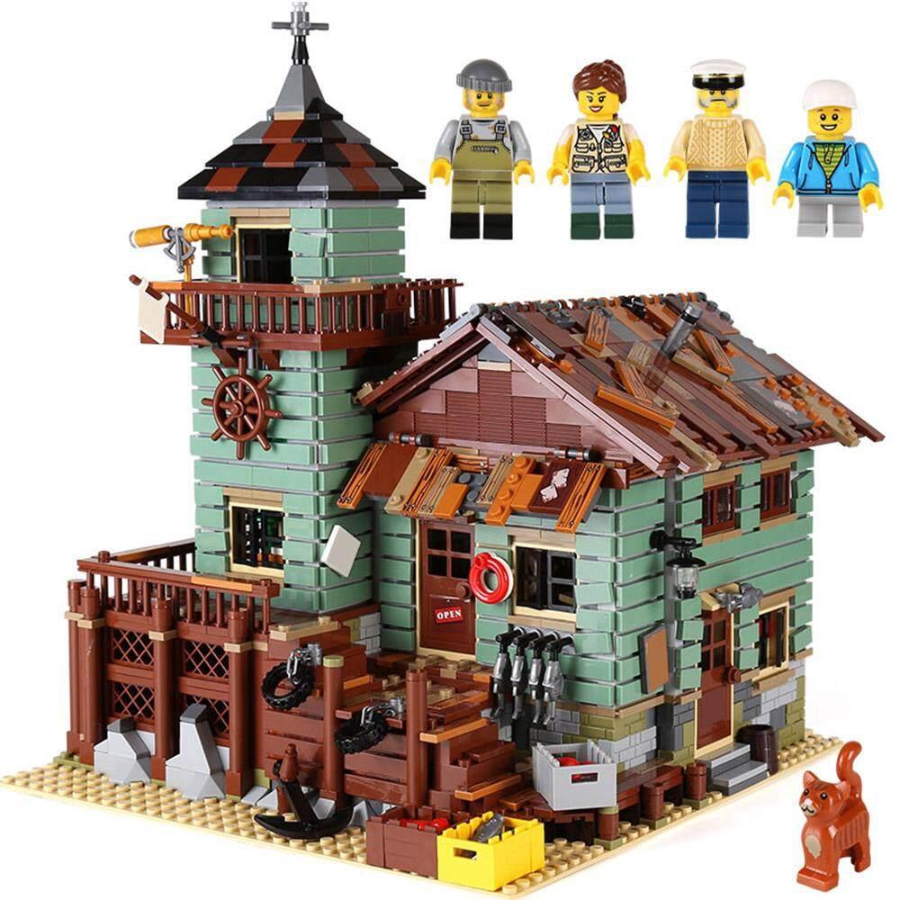Top 10 Lepin 16050 2109Pcs Movie Series Old Fishing Store Model Building Blocks Bricks Kit Intl