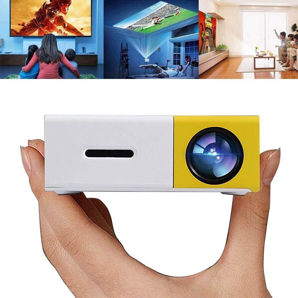 Voovrof Proyektor LED Mini Portable Proyektor LED Dukungan PC Flashdisk USB/SD/AV/HDMI Input untuk Video/Film/ permainan/Home Theater Video Projector-Intl