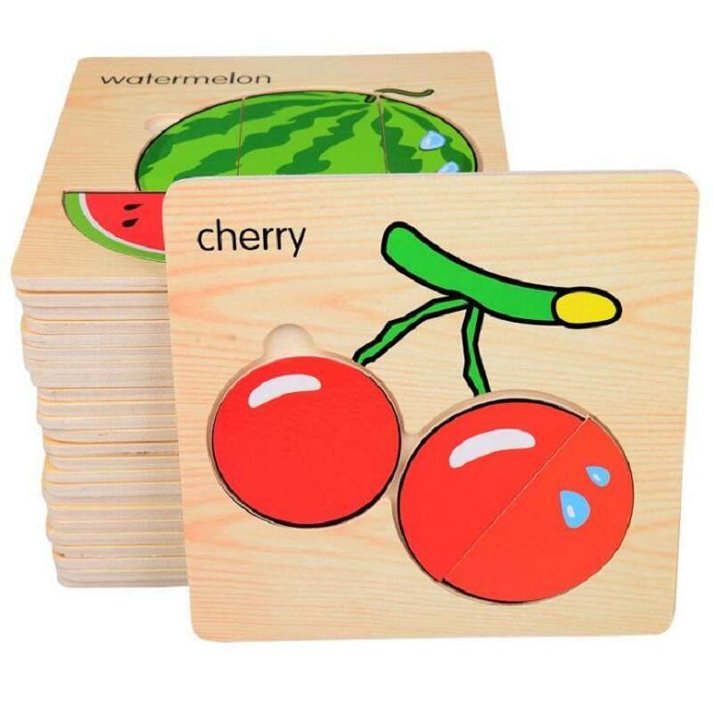 8pcs/lot Wooden 3d Puzzle Montessori Educational Toys For Preschool Children Brinquedos Nice Gift 15*15*0.6cm