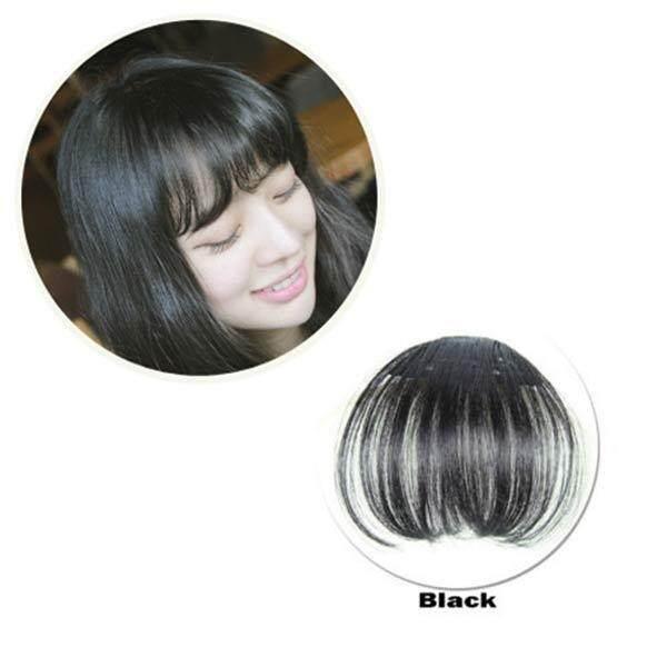 Amart Wanita Klip Poni Rambut Ekstensi Fringe Hairpieces Rambut Sintetis Salah Klip-Internasional