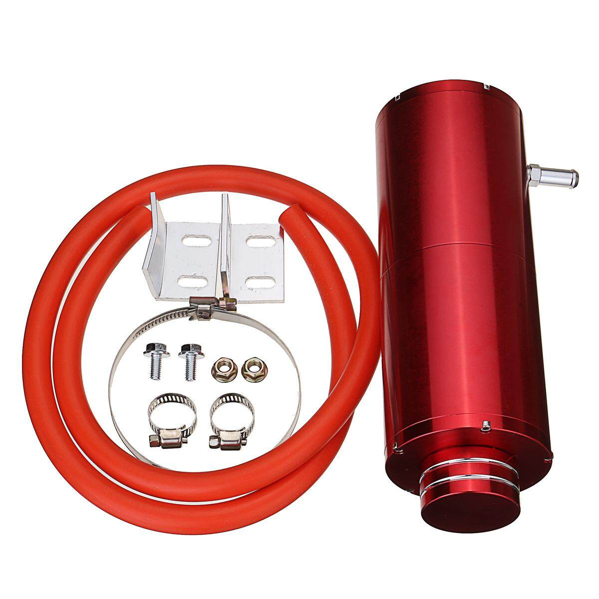 Red Cylinder Radiator Reservoir Tank Coolant Overflow Hose Can Reserve O Il Intl