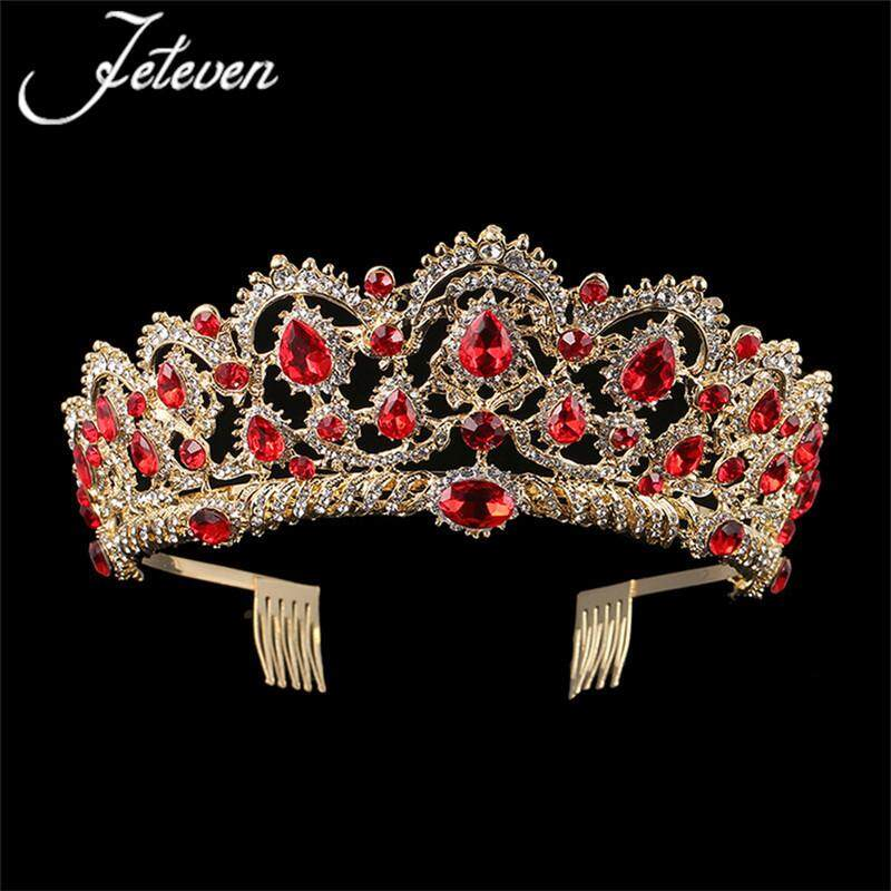 The new crown jewels with the crown south Korean water diamond wedding crown popular bride crown wedding dress accessories - intl