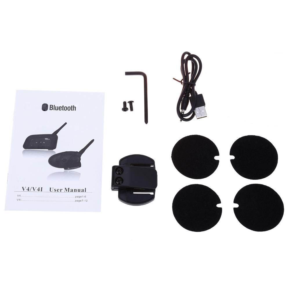 ... vnetphone V4 - 1200 Full-duplex 1200M Bluetooth Motorcycle Helmet Interphone Intercom for 4 Riders