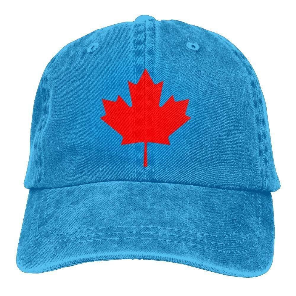 Richard Dapat Diedit Latar Belakang Merah Kanada Maple Daun Souvenir Dewasa Kapas Dicuci Denim Perjalanan Topi Topi Disesuaikan Alami-Internasional