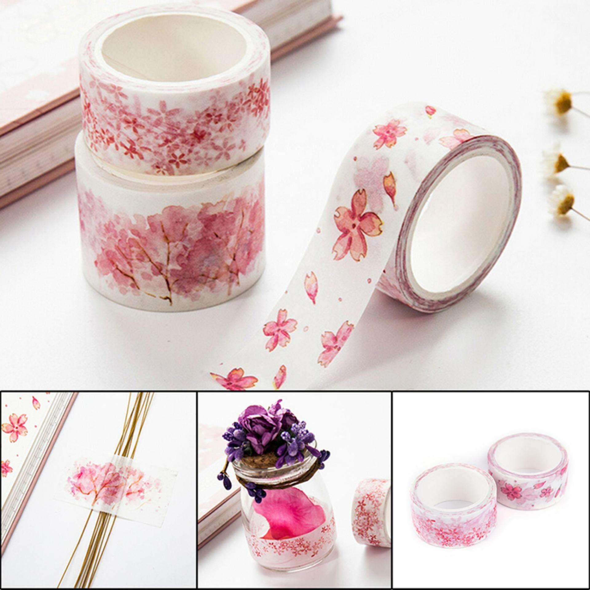 Hình ảnh Sakura washi tape DIY decorative scrapbooking masking adhesive label sticker Color:2# - intl