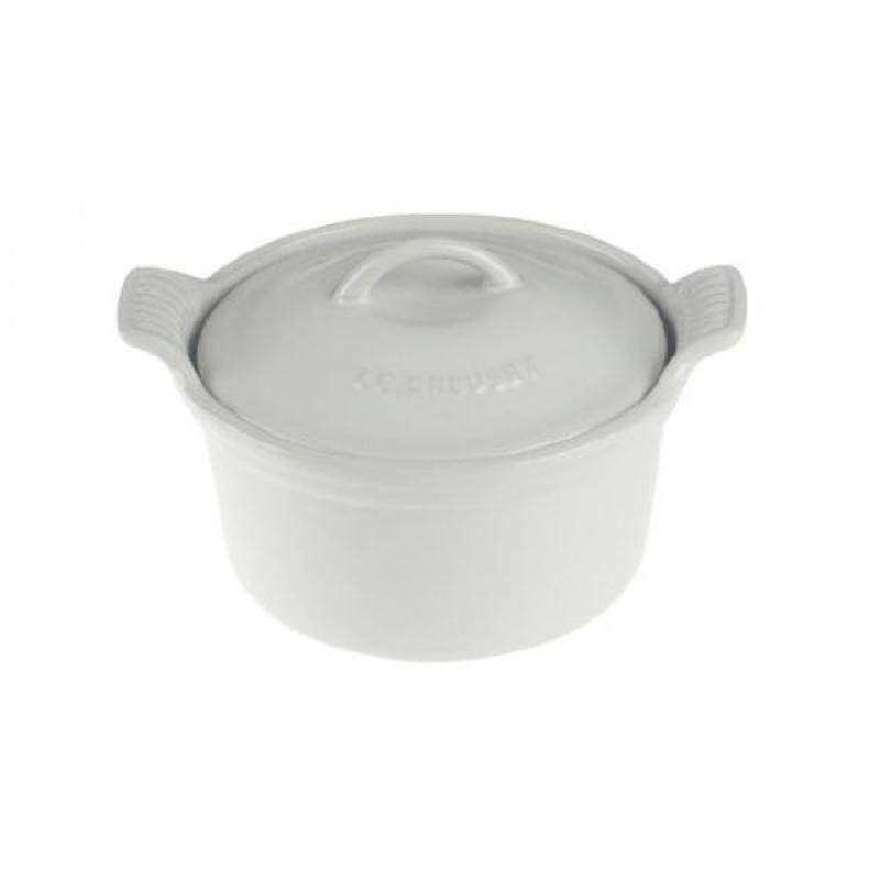Le Creuset Heritage Stoneware 18oz. Covered Cocotte, White - intl Singapore