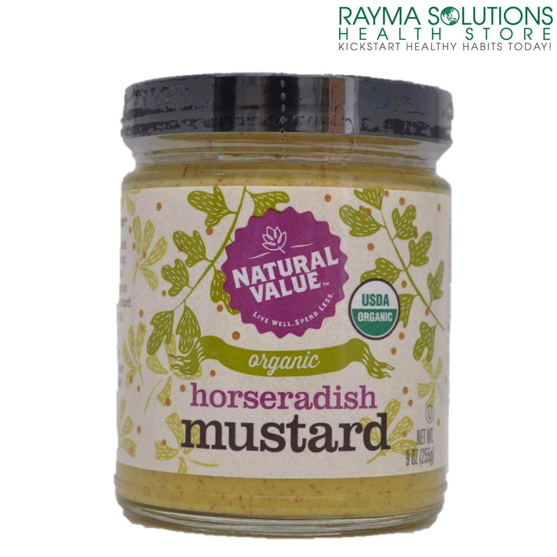 NATURAL VALUE Organic Horseradish Mustard 255g