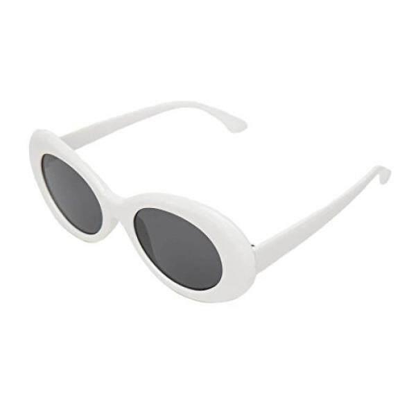 Clout Kacamata Olahraga dengan Gaya Retro Lonjong Putih Kurt Cobain Kacamata -Internasional