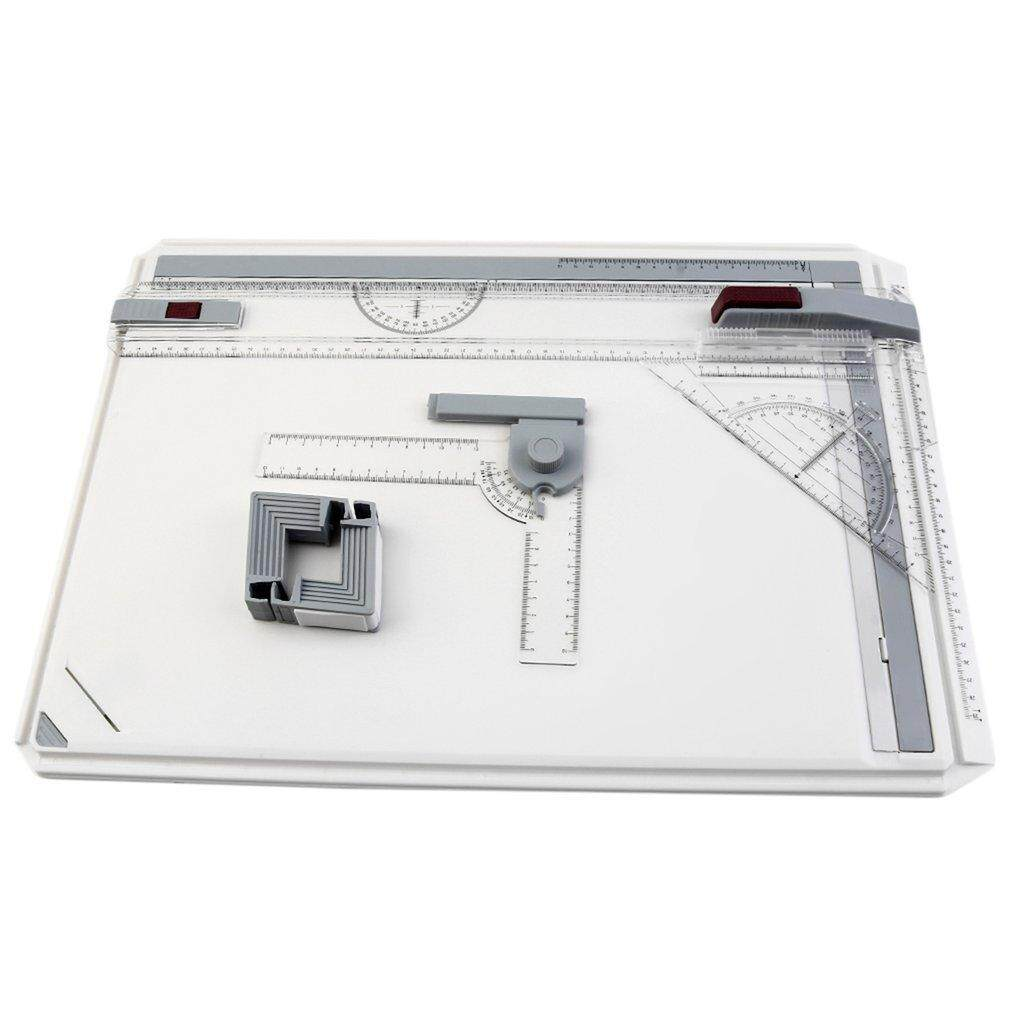 Good A3 Drawing Board Table With Parallel Motion Adjustable Angle Art Drawing Tools Transparent - Intl By Good Good Shop.