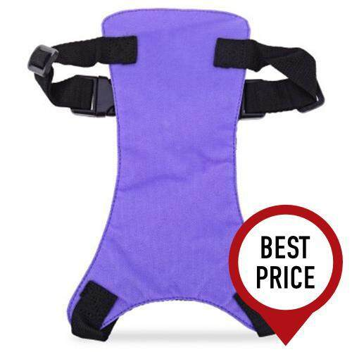 PET VEHICLE SAFETY SEAT BELT ADJUSTABLE DOG LEASH COLLAR CHEST HARNESS (PURPLE)
