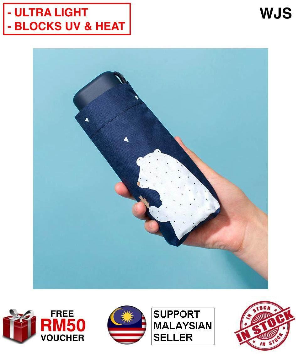 (ULTRA LIGHT & UPF50) WJS Mini Ultra Light Foldable Umbrella