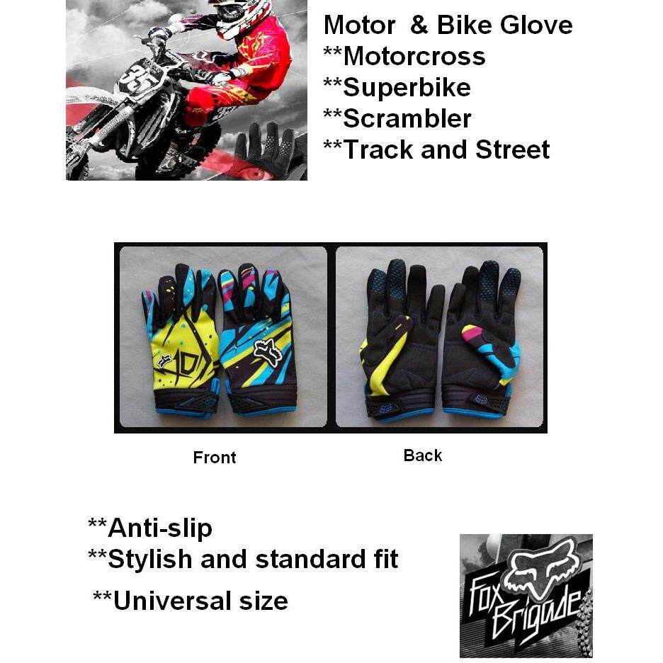 Motorcycle Bike Motorcross Fox Riding Glove Stylish Antislip