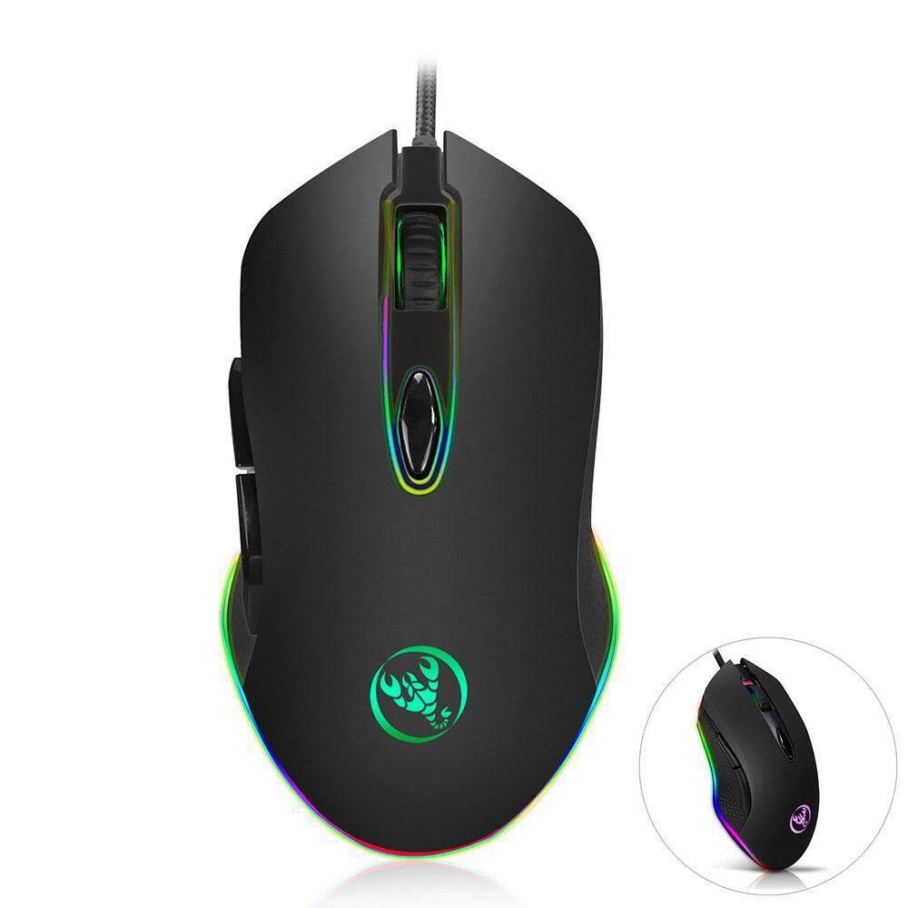 Honghui Game Mouse, 4800 Dpi Profesional USB Berkabel Bergerak Cepat LED Ringan Game Mouse Periferal Permainan dengan 6 Tombol untuk Buah dan Laptop -Internasional