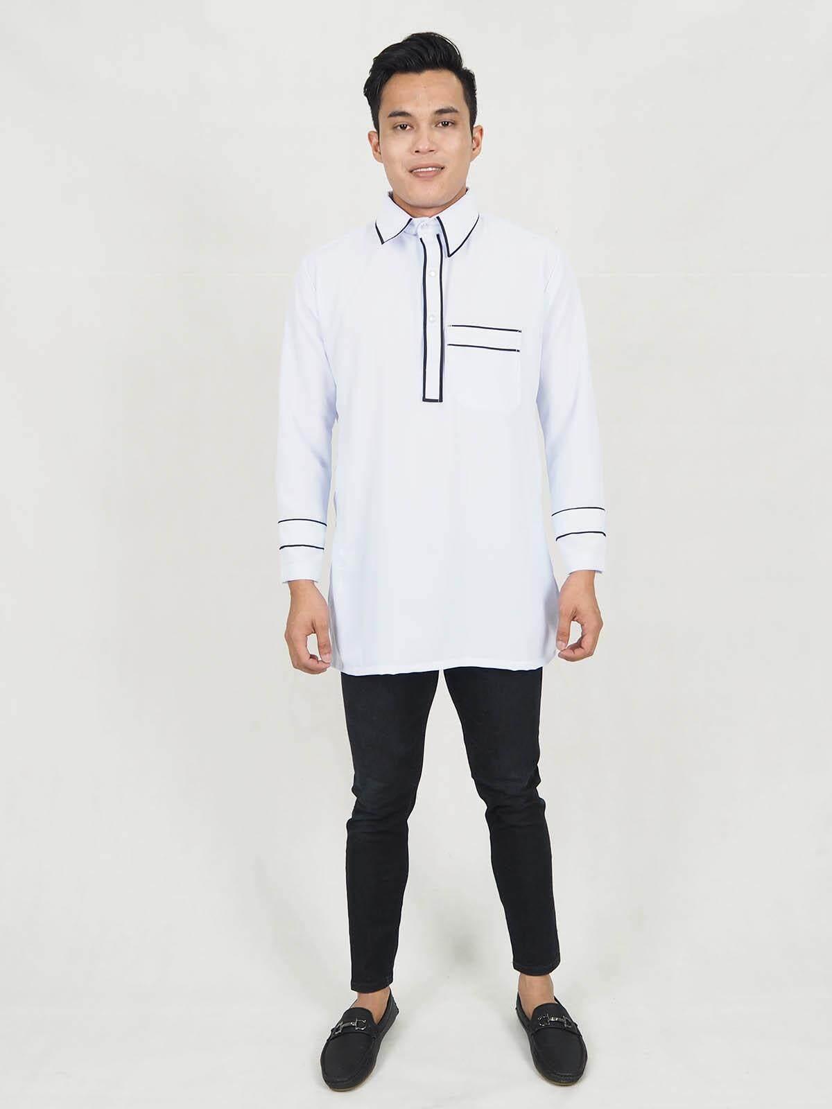 Muslim Men Fashion Moden Collar Kurta / Ulric Collar Men Kurta (XXS-XL) / Modern Men Collar Kurta
