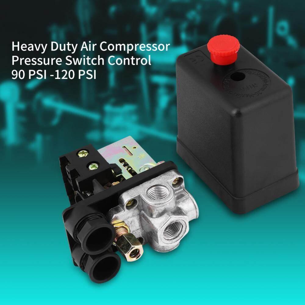 Air Compressor Pressure Switch Control 90PSI -120PSI Heavy Duty 240V 16A Four Port - intl