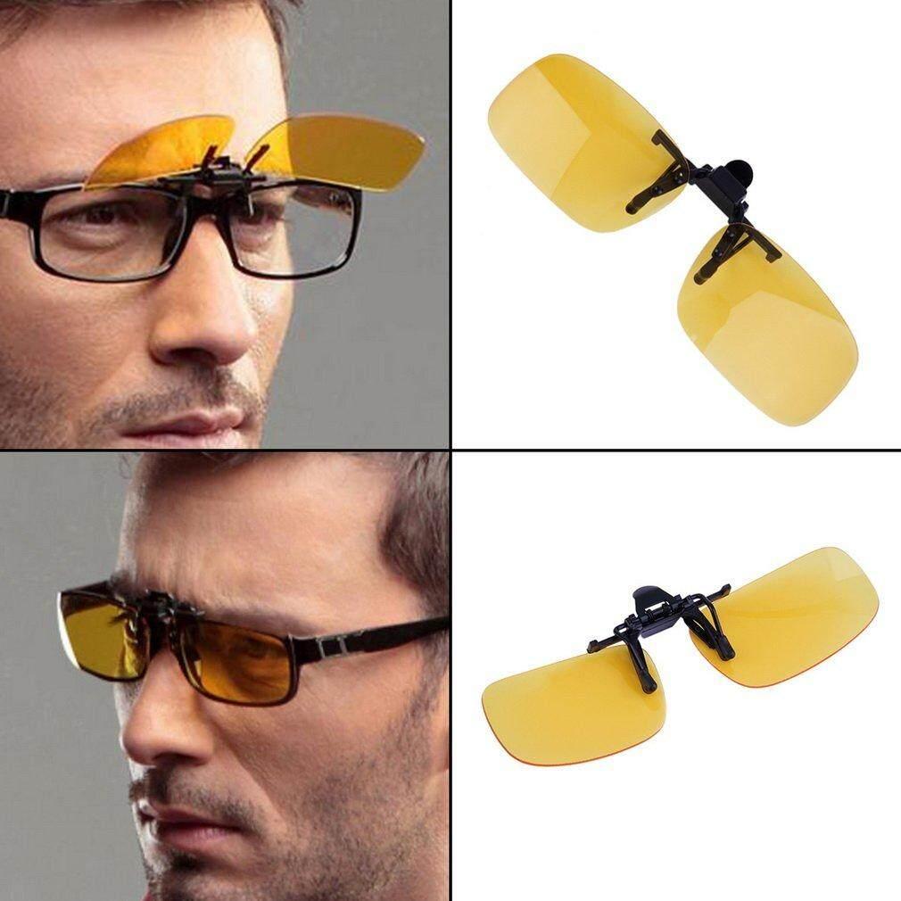 21d89fc80ec5 Catwalk Driving Night Vision Flip-up Lens Cool Eyewear Clip On Lens Anti-UV
