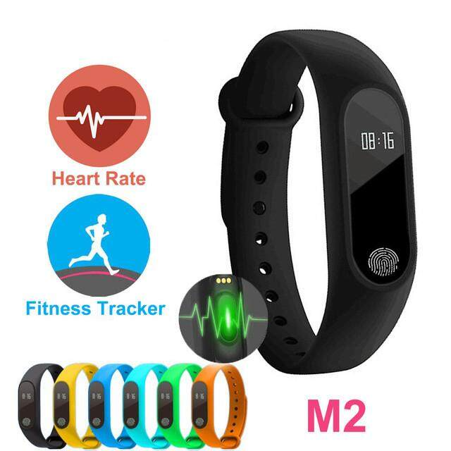 A-Mio M2 Smart Bracelet Smarband Heart Rate Monitor Bluetooth Fitness Bracelet Tracker For Android Ios Smart Watch By A-Mio.