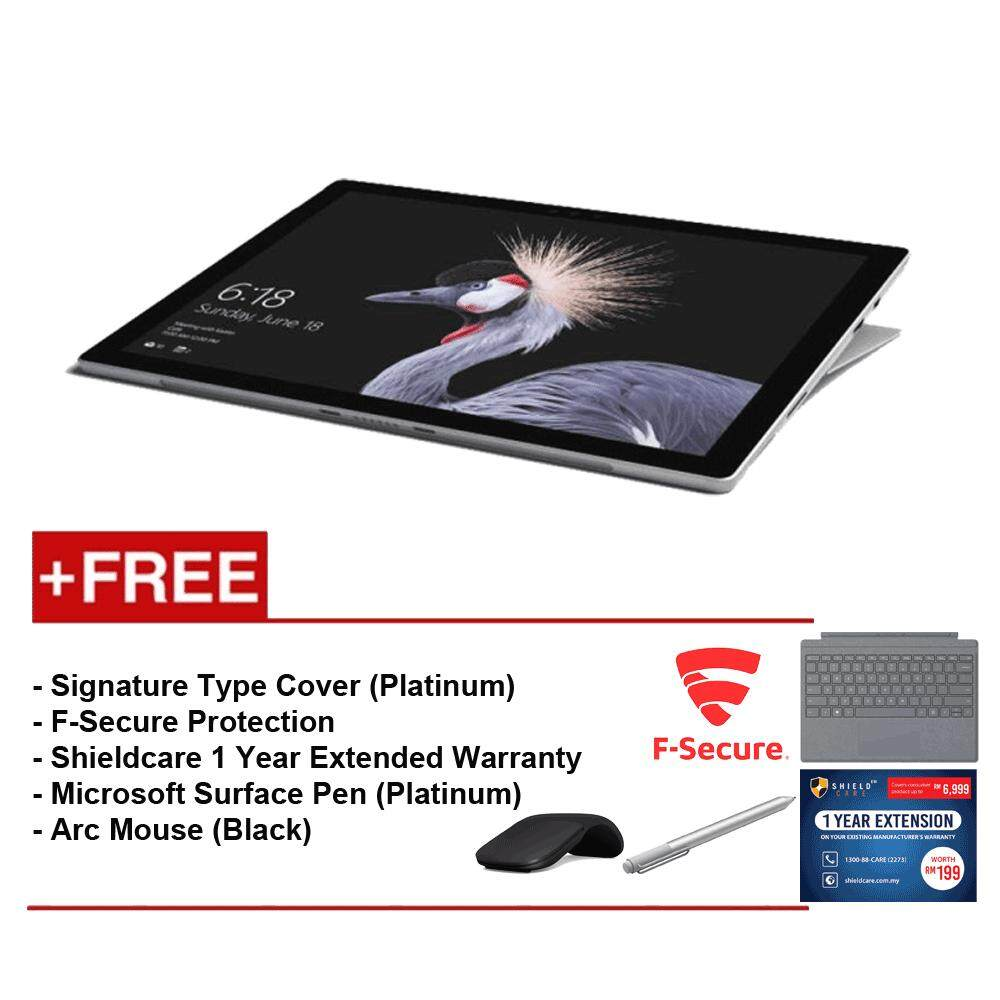 NEW Microsoft Surface Pro-Core i5 8G/256GB Free Surface Pro Type Cover(Platinum)+ Shieldcare 1 Year Extended Warranty+ F-Secure EndPoint Protection+ ArcMouse(Black)+ Microsoft Surface Pen (Platinum) Malaysia
