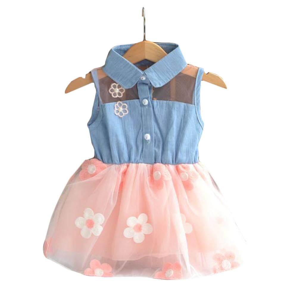 Girls Dresses For Sale Baby Online Brands Dress Tutu Flower Pink 0 2th Ybc Fashion Princess Denim Top Sun Intl
