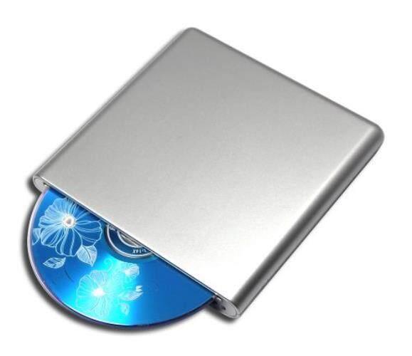 Brand New External USB 2.0 BD-ROM Combo Blu-ray Player for Toshiba Mini NB NB100 NB200 NB205 NB300 NB305 NB500 NB520 NB550D NetBook PC 8X DVD+-RW DL 24X CD Writer Portable Optical Drive Silver - intl