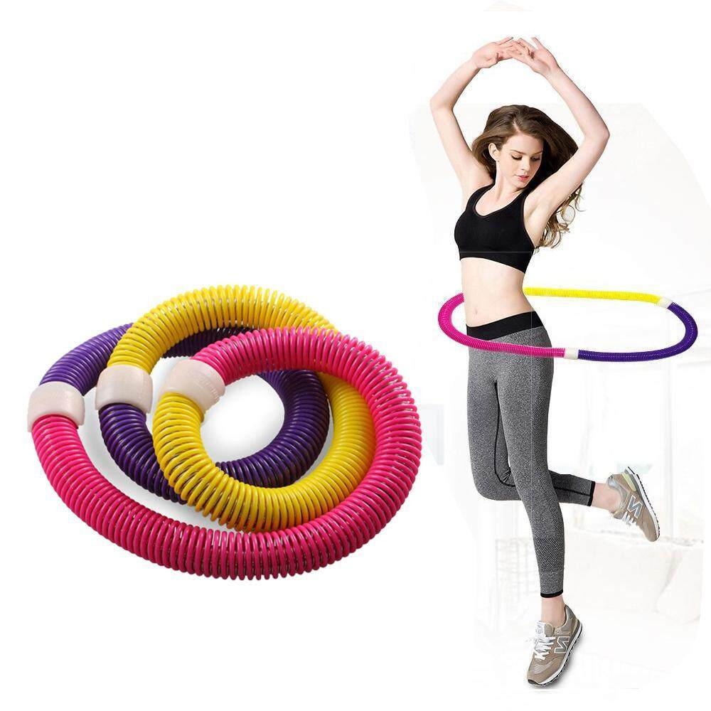 niceEshop Weighted Hula Hoop, Portable Flexible Exercise Soft Spring Fitness Hula Hoop - intl