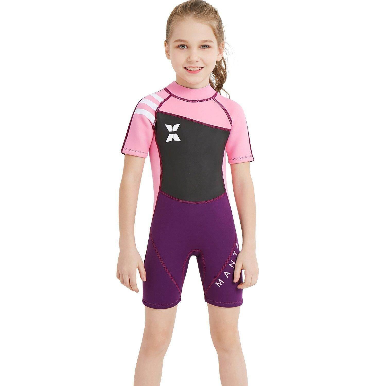 0a98e7e08e DIVE   SAIL Kids 2.5mm Neoprene Diving Wetsuit Boys Girls Swimsuits Short  Sleeve Swimwear Back