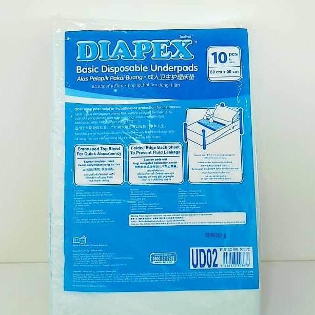 Diapex Basic Disposable Underpads 60cm x90cm 10s