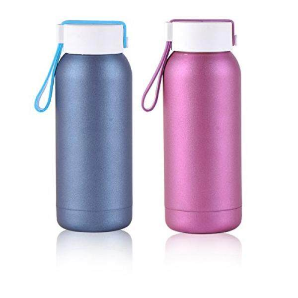 Kekosongan Insulated Ganda Walled Thermos Beku Warna Tidak Mengkilap Anti Karat Air Bottle dengan Tali Penyandang