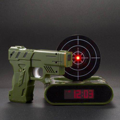 Best-Mall Novelty Battery Powered Infrared Laser Target Shooting Gun Alarm Clock-Best Gift For Kids(Camoflage,Backlight)
