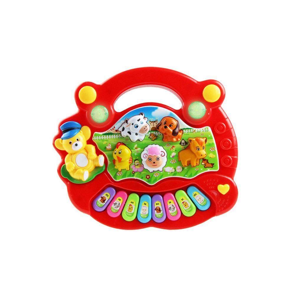 Nonvoful Listrik Bayi Mainan Piano Musikal, pendidikan dan Pembelajaran Mainan dengan Berbicara Suara untuk Balita Anak-anak Anak Laki-laki dan Perempuan-Internasional