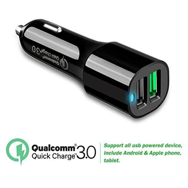 Quick charge 3.0 Car Charger Dual USB Port for LG Phone Q8 V30/20,G6/5,LG X Venture/x Power,Google Nexus 5X/6P,Moto Z2/Moto Z/Z Force/Z Play, Moto X4,Blackberry Keyone and more - intl