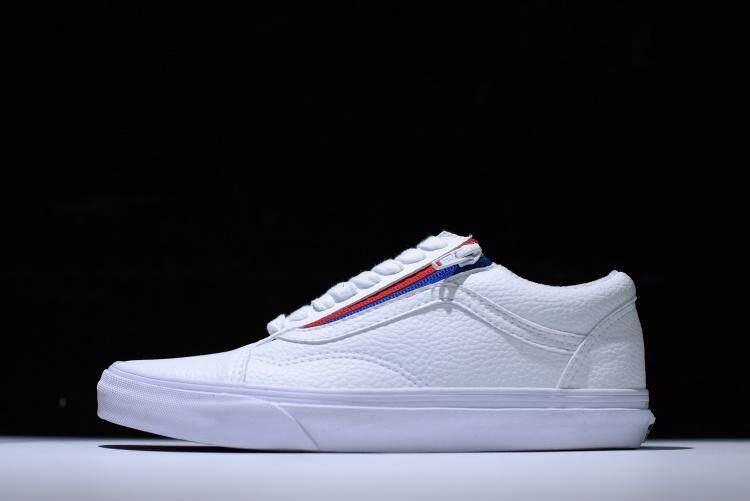 Original VANS OLD SKOOL VN0A3493OU9 Men Women Sport Fashion Shoes Sneakers  Leather (WHITE  d7920abe94