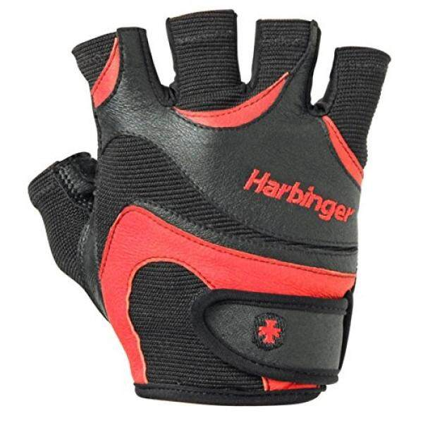ALMM Harbinger Mens FlexFit Weightlifting Gloves with Flexible Cushioned Leather Palm (Pair), Large - intl