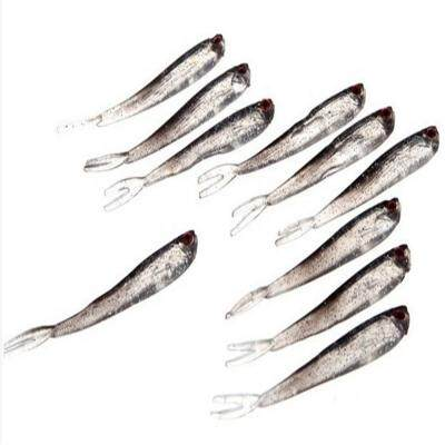 Red Eye Swing Machine Trimming Winter Fishing Artificial Bait Soft Lure Without Hook (COLORMIX)