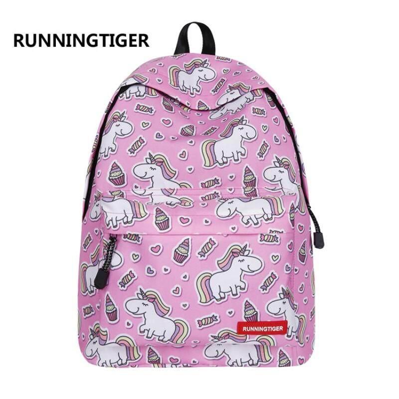 RUNNINGTIGER Cute Unicorn Printed School Bags for Teenagers Fashion Women  Travel Backpack Female Mochila Rucksack - ce29dc780c900