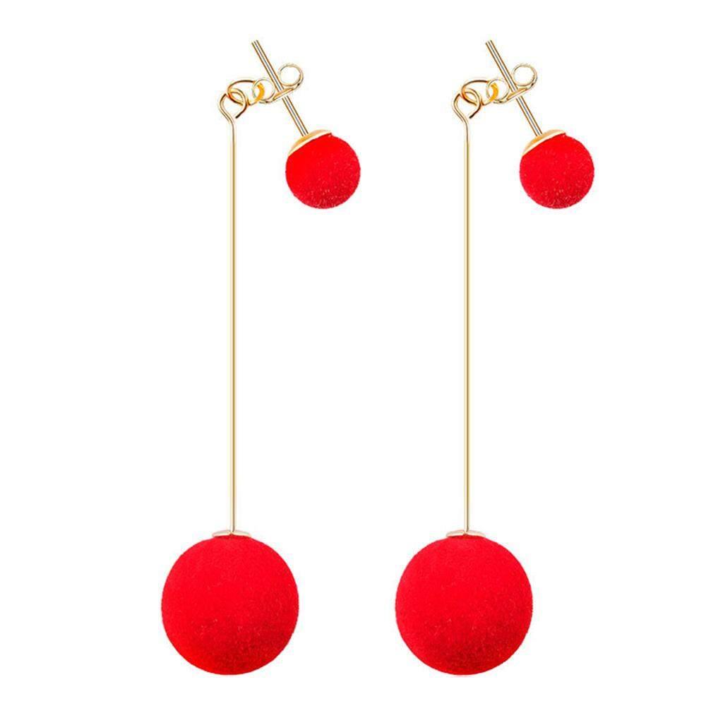 Fitur Klip Turki Hanging Jewel Ball 6 Pcs Dan Harga Terbaru Info Drop Ear Ring Studs Temperament Color Plush Beauty Lady