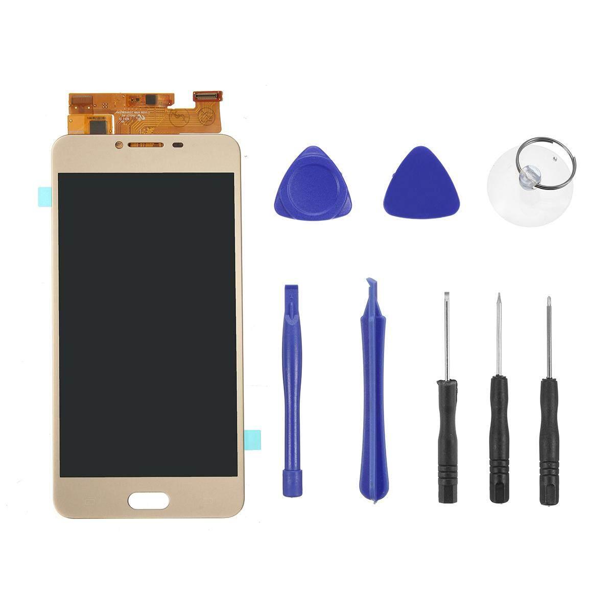 Untuk Samsung Galaksi C7 C7000 LCD Tampilan Sentuh Layar Digitizer Assembly Emas-Internasional