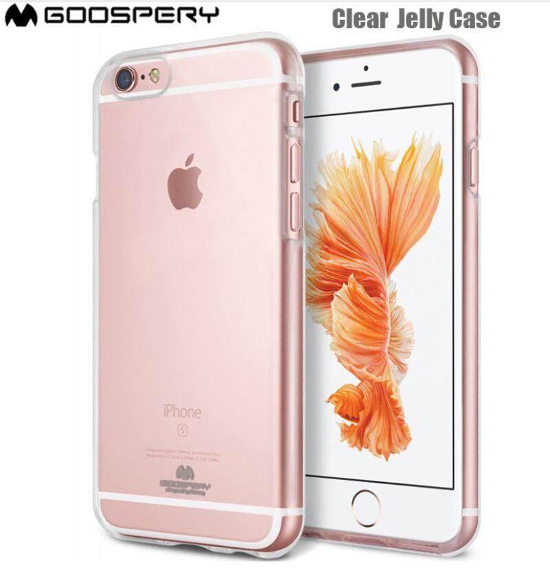iPhone 7 Plus / 8 Plus Transparent Soft TPU Case - Mercury Goospery