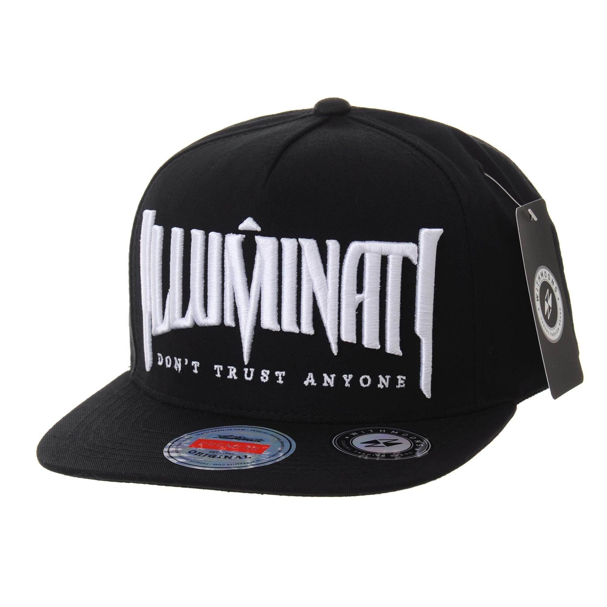 a52a963c5 WITHMOONS Snapback Hat Illuminati Embroidery Hip Hop Baseball Cap AL2389