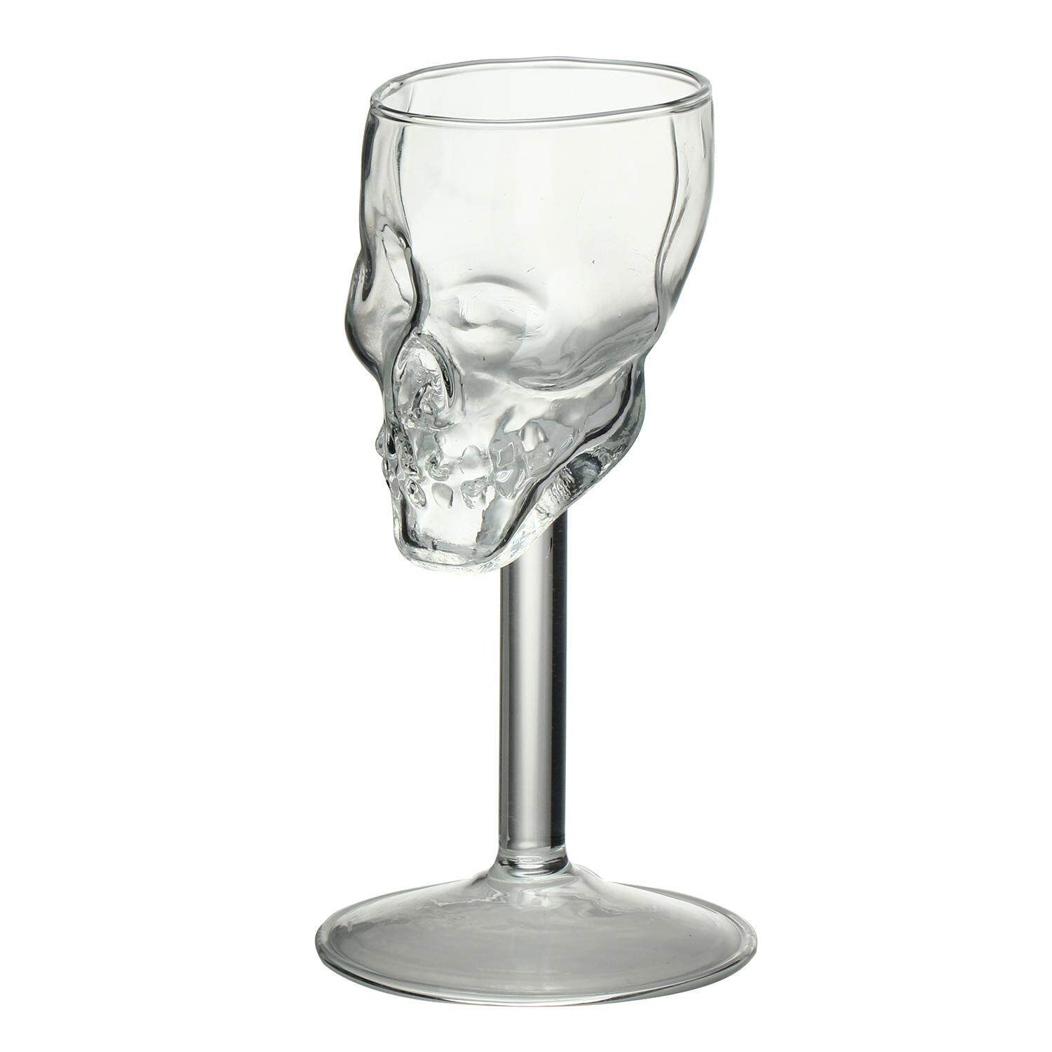 tongzhi Mini Fancy Skull Transparent Glass Cup Wine Goblets - intl